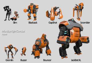 Monday Night Combat Robots Size