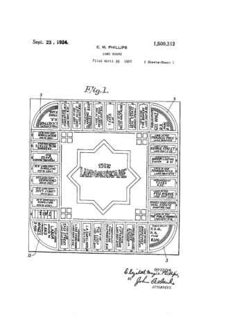 File:1924 Landlord's Game Patent US1509312-0 Page 1.png