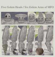 Golem Heads & Arms