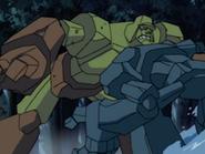 Titan fights Golem