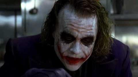 The Joker imtimadates The Crime Bosses