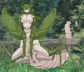 Mantis Girl Censored
