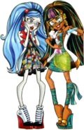 Profile art Mad Science - Cleo and Ghoulia