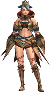 FrontierGen-Gania Armor (Female) (Both) (Front) Render 003