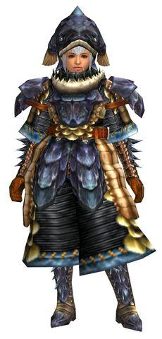 File:FrontierGen-Lava G Armor (Female) (Blademaster) (Front) Render.jpg