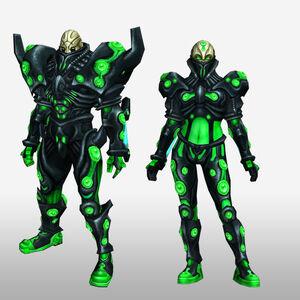 FrontierGen-Genome Armor 008 (Both) (Front) Render