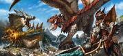 Rathalos VS Lagiacrus by NewRoyalDragon