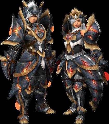 File:FrontierGen-Myuzu Armor (Blademaster) and Zere Armor (Gunner) Render 2.png