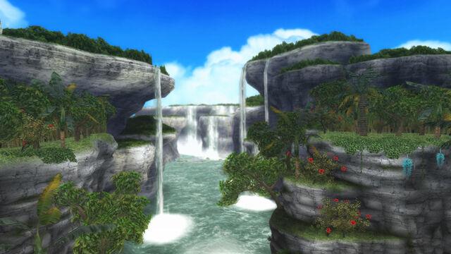 File:FrontierGen-Painted Waterfalls Screenshot 001.jpg