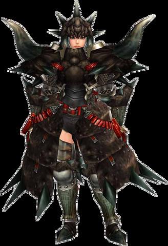 File:FrontierGen-Black Diablos G Armor (Blademaster) (Female) Render 001.png