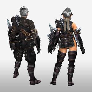 FrontierGen-Kuroin G Armor (Gunner) (Back) Render