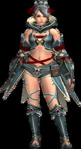 FrontierGen-Gania Armor (Female) (Both) (Front) Render 002