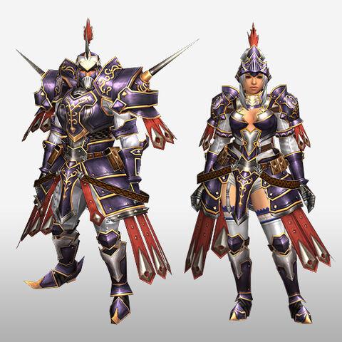 File:FrontierGen-Harubada Armor (Blademaster) and Torakka Armor (Gunner) (Front) Render.jpg