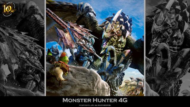 File:MH 10th Anniversary-Monster Hunter 4 Ultimate Wallpaper 001.jpg