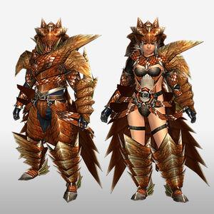 FrontierGen-Lavi Armor (Gunner) (Front) Render