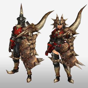 FrontierGen-Diaburo G Armor (Gunner) (Front) Render