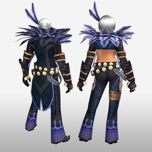 FrontierGen-Hypnoria Armor (Both) (Back) Render