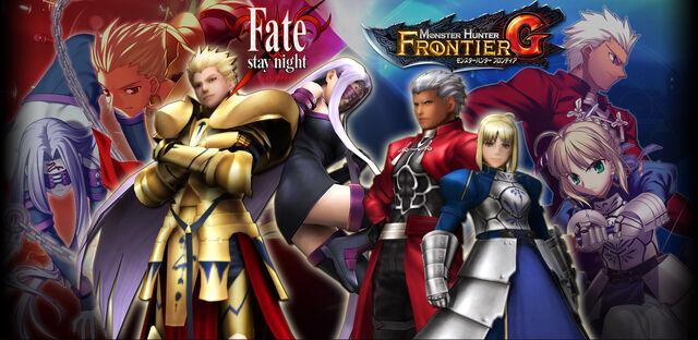 File:FrontierGen-Fate stay night x MHF-G Wallpaper 000.jpg