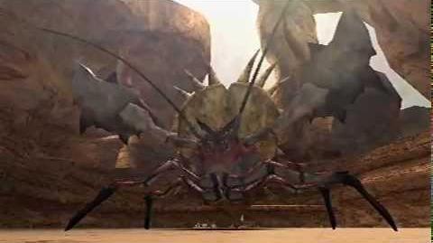 Monster Hunter Freedom Unite - One-Horned Daimyo (Daimyo Hermitaur intro)