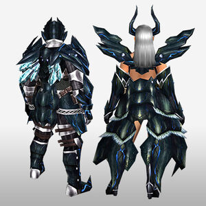 FrontierGen-Robasuto Armor (Both) (Back) Render