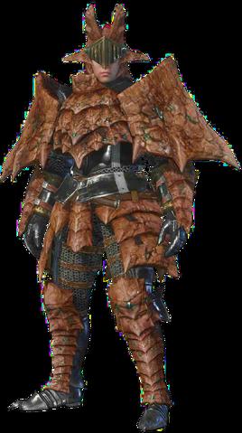 File:MHO-Sandstone Basarios Armor (Blademaster) (Male) Render 001.png