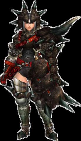 File:FrontierGen-Black Diablos G Armor (Gunner) (Female) Render 001.png