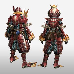 FrontierGen-Apukaru Armor (Both) (Back) Render