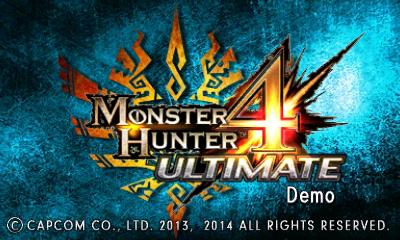 MH4U-Demo Title Screen