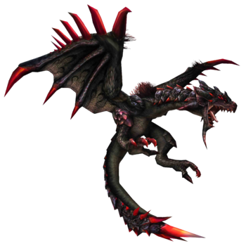FrontierGen-Unknown (Black Flying Wyvern) Render 001