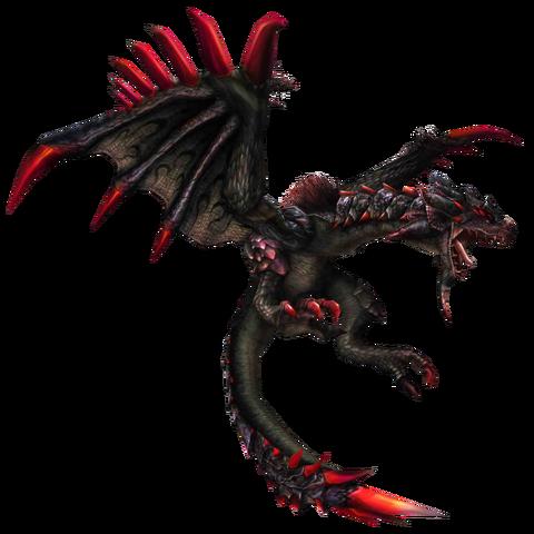 File:FrontierGen-Unknown (Black Flying Wyvern) Render 001.png
