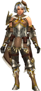 FrontierGen-Regunumu Armor (Female) (Both) (Front) Render 004