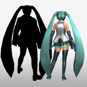 FrontierGen-Miku Armor (Both) (Back) Render