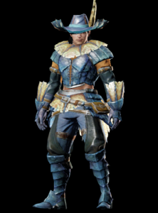 MHO-Blue Kut-Ku Armor (Blademaster) (Male) Render 001