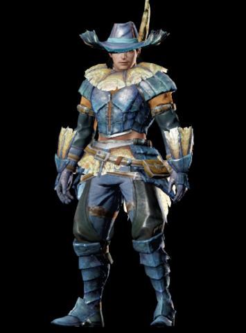 File:MHO-Blue Kut-Ku Armor (Blademaster) (Male) Render 001.png