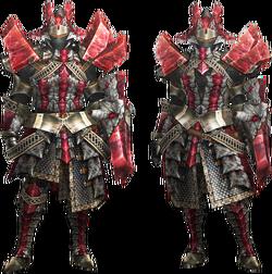 MH4U-Ruby Basarios Armor (Gunner) Render 001