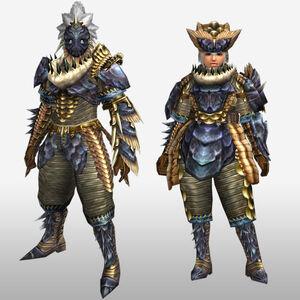 FrontierGen-Lava Armor (Gunner) (Front) Render