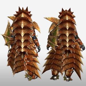 FrontierGen-Lavi Armor (Gunner) (Back) Render