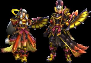 FrontierGen-Miyabi Armor (Gunner) Render 2