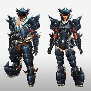 FrontierGen-Guren Armor (Blademaster) (Front) Render