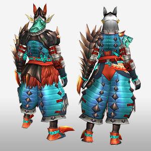 FrontierGen-Tamamo G Armor (Gunner) (Back) Render