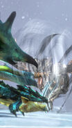 MHSP-Dragon Wind Kushala Daora and Azure Rathalos Screenshot 001