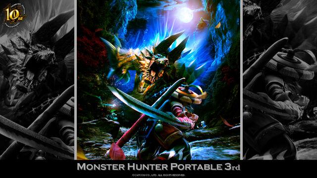 File:MH 10th Anniversary-Monster Hunter Portable 3rd Wallpaper 001.jpg