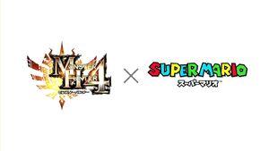 Logo-MH4 x Super Mario