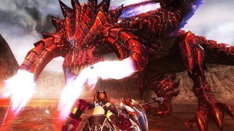 【MHF-G】炎角竜『ヴァルサブロス(烈種)』初討伐!【赤ディアブロス】 フルHD