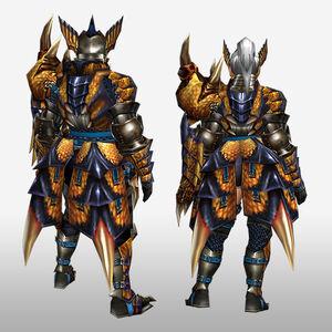 FrontierGen-Tigrex G Armor (Gunner) (Back) Render
