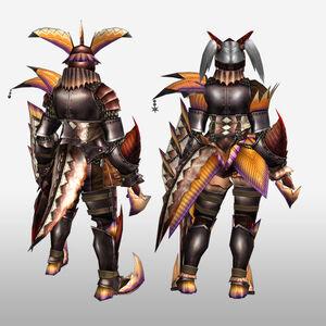 FrontierGen-Diboa Armor (Gunner) (Back) Render