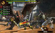 MH4U-Lagombi and Rathalos Screenshot 001