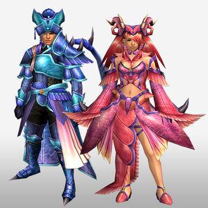 FrontierGen-Tsukihi Armor (Both) (Front) Render