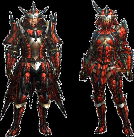 File:MH4U-Rathalos Rare Relic Armor (Blademaster) Render 001.png