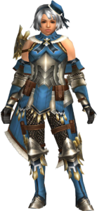 FrontierGen-Regunumu Armor (Female) (Both) (Front) Render 002